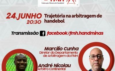 LIVE DE JUNHO ABORDA TEMA SOBRE A TRAJETÓRIA NA ARBITRAGEM DE HANDEBOL
