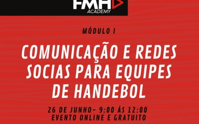 FEDERAÇÃO MINEIRA DE HANDEBOL DISPONIBILIZA CURSO GRATUITO DE COMUNICAÇÃO E REDES SOCIAIS PARA EQUIPES DE HANDEBOL